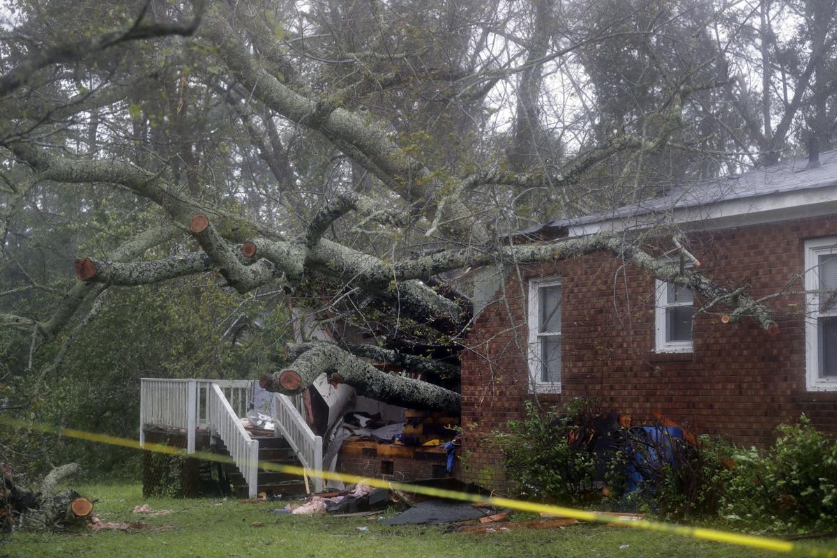 APTOPIX Tropical Weather North Carolina