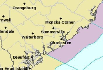 Severe thunderstorm warning includes southern Charleston County
