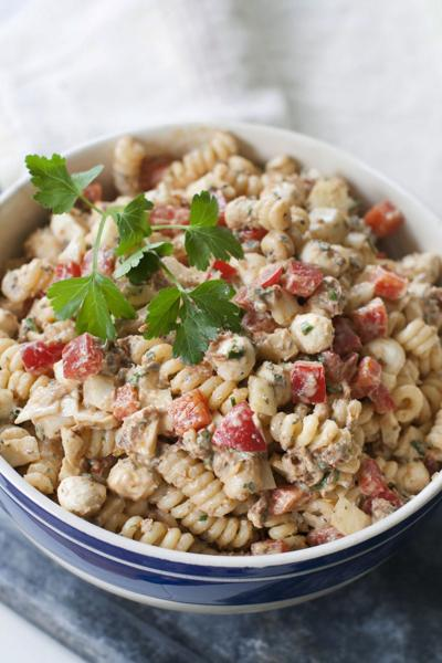 Sun-dried tomatoes lend oomph to pasta salad