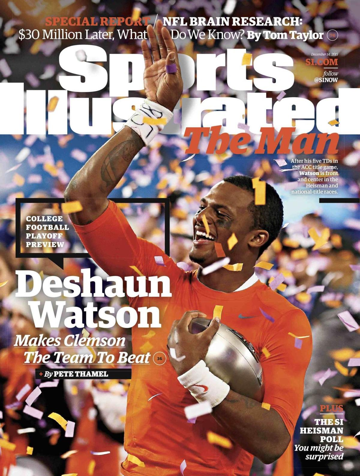 Watson on the cover of Sports Illustrated