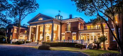 Woodlands Mansion at Dusk