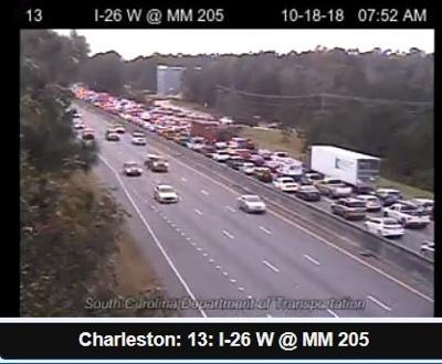 After 8 hours, all portions of I-26 affected by truck fire