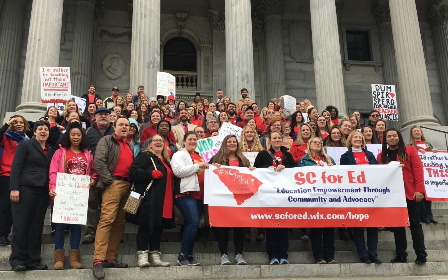 POST AND COURIER – South Carolina teachers calling out of work May 1 to march on State House