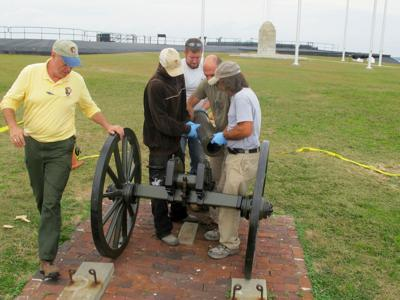 Mountain howitzer back on rampart at Fort Sumter | Archives