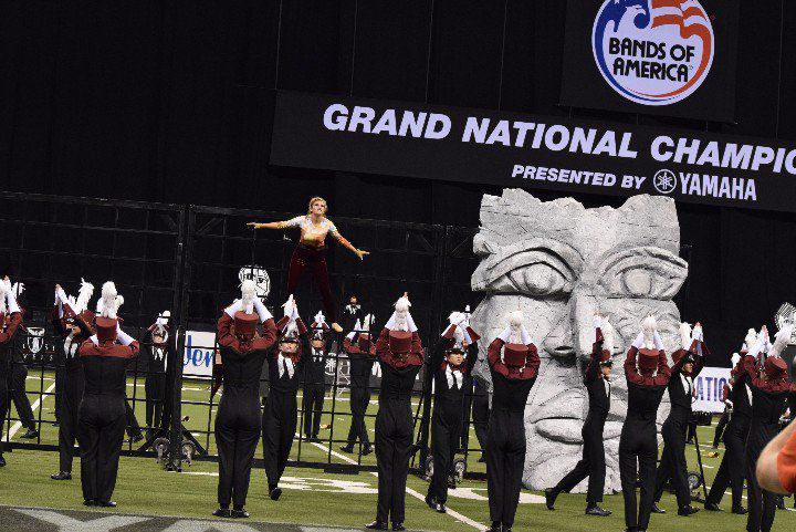 """Wando High School marching band performs """"Therefore"""" at the Grand National Championship in Indianapolis (copy)"""