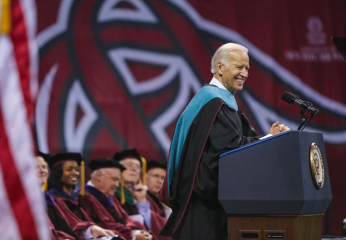 BC-SC--Biden-South Carolina, 2nd Ld-Writethru,417<\n>Biden addresses U of SC grads, attends fundraiser