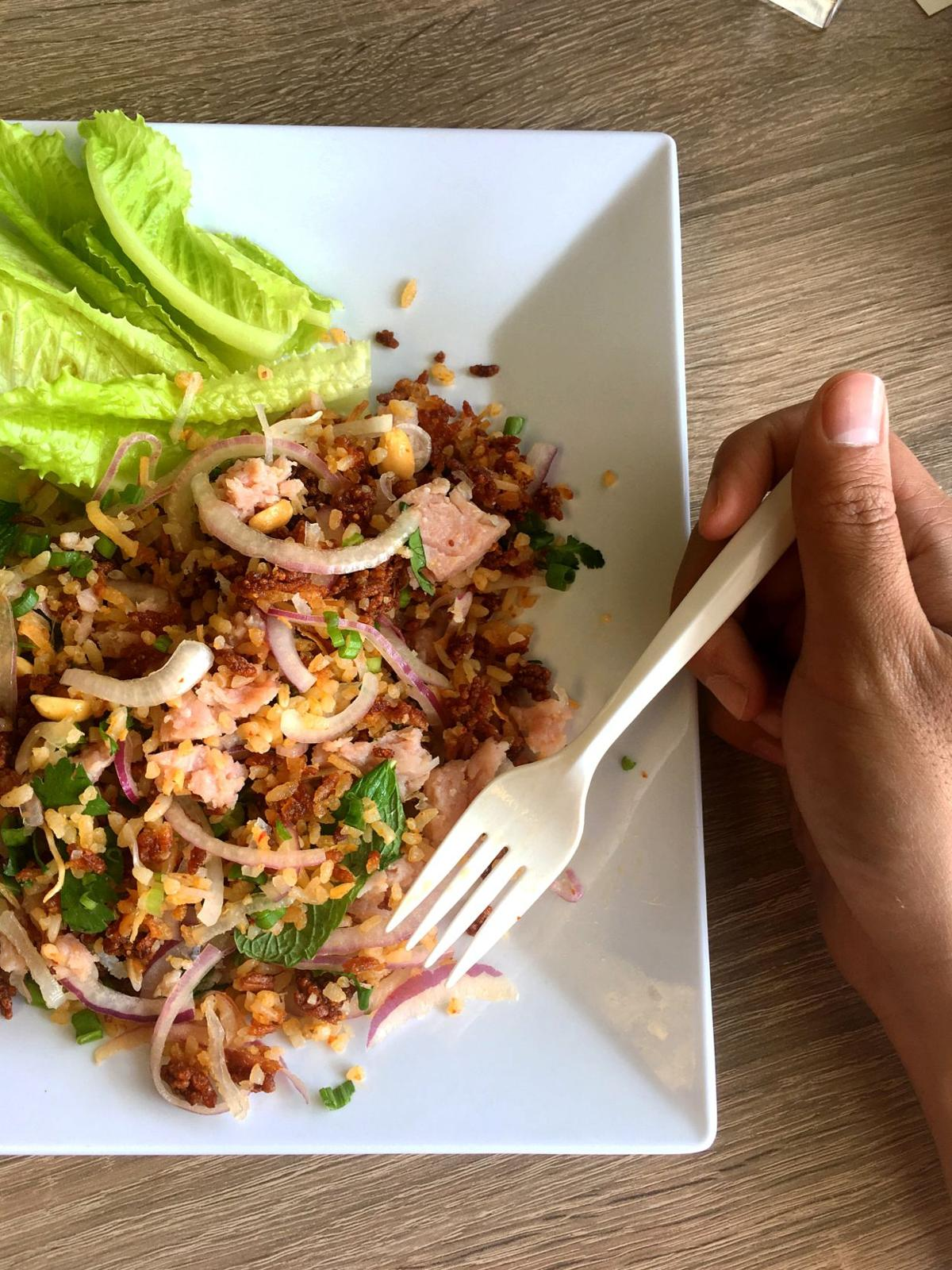 Duke's Pad Thai crispy rice salad