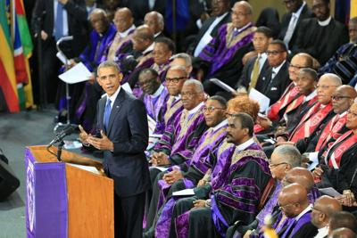 WATCH: President Barack Obama sings 'Amazing Grace' at Clementa Pinckney's funeral