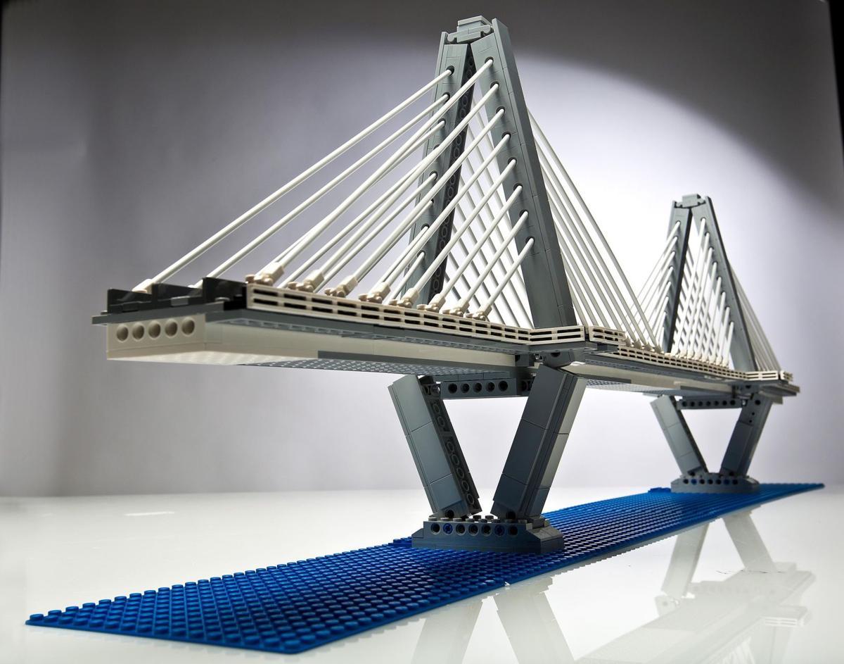 Celebrating the Ravenel bridge through LEGOs
