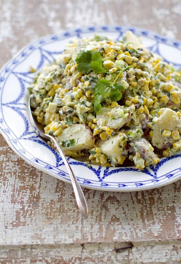 Grilled potato salad goes big, bold
