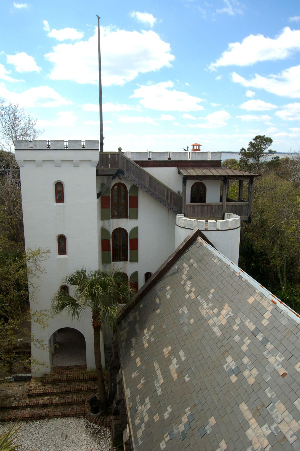 1401 Middle St. — Gothic ex-church, airy extension make up Sullivan's Island 'castle' with rooftop views