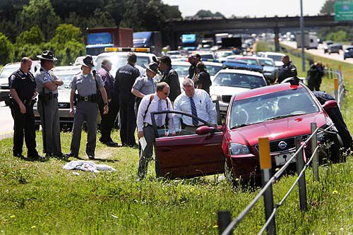 Suspect quiet as judge sets bail in I-26 shooting