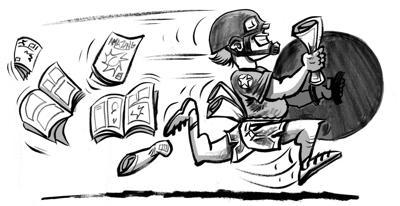 Crime Blotter Comic Book Pants