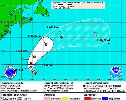 Hurricane Danielle becomes Category 4 storm
