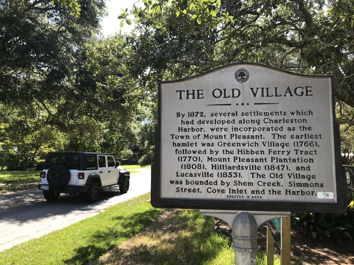 Mount Pleasant Old Village sign