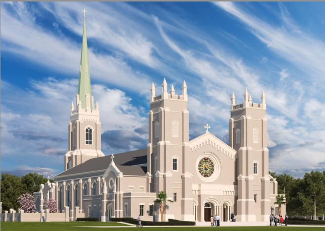 St. Clare of Assisi Catholic Church rendering for Daniel Island