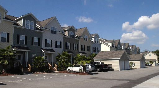Quiet setting draws attention to townhomes