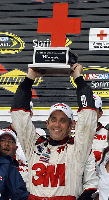 Biffle wins for injured team owner Roush at Pocono