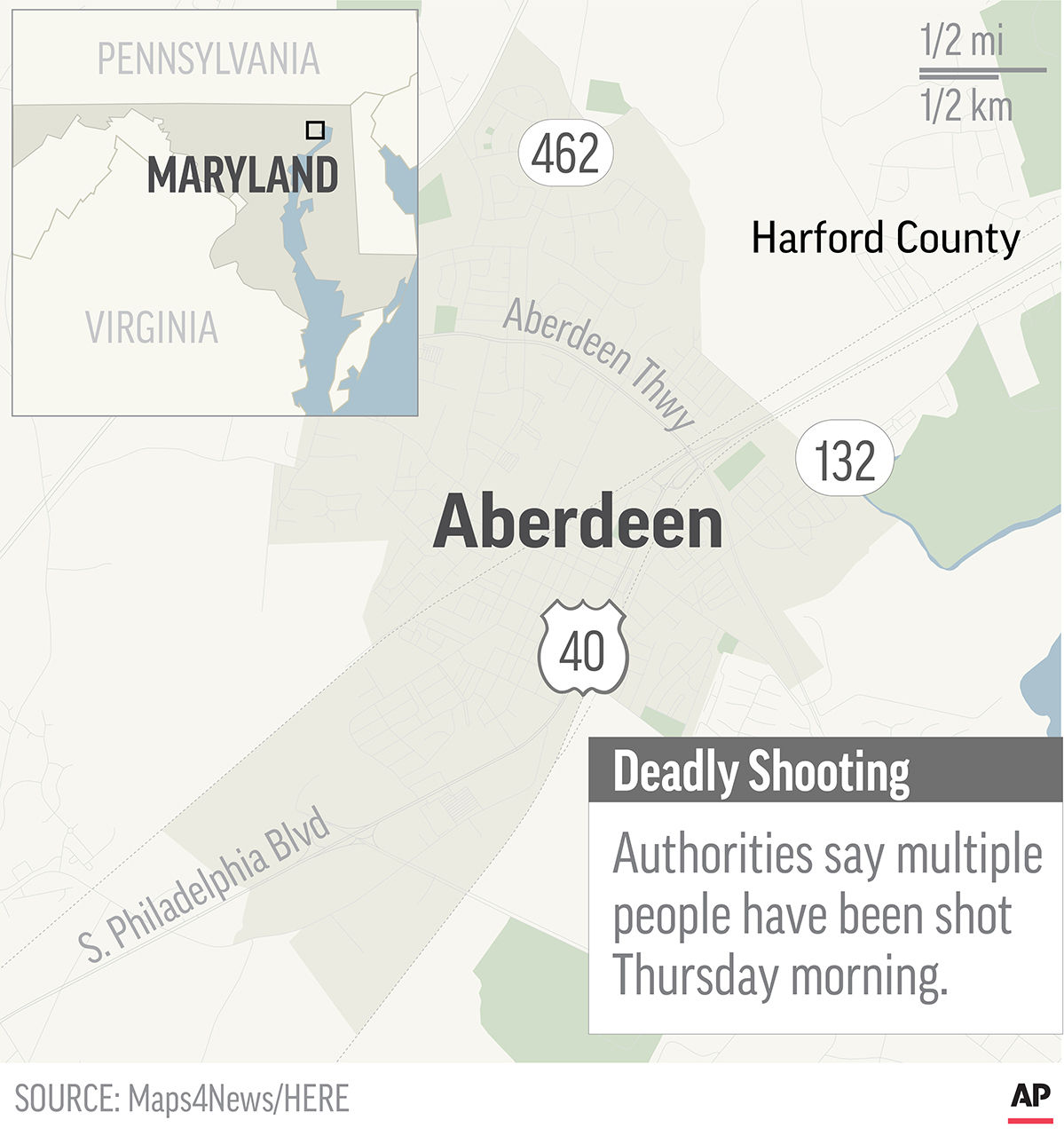 4 people, including suspect, killed in shooting at a Maryland ...