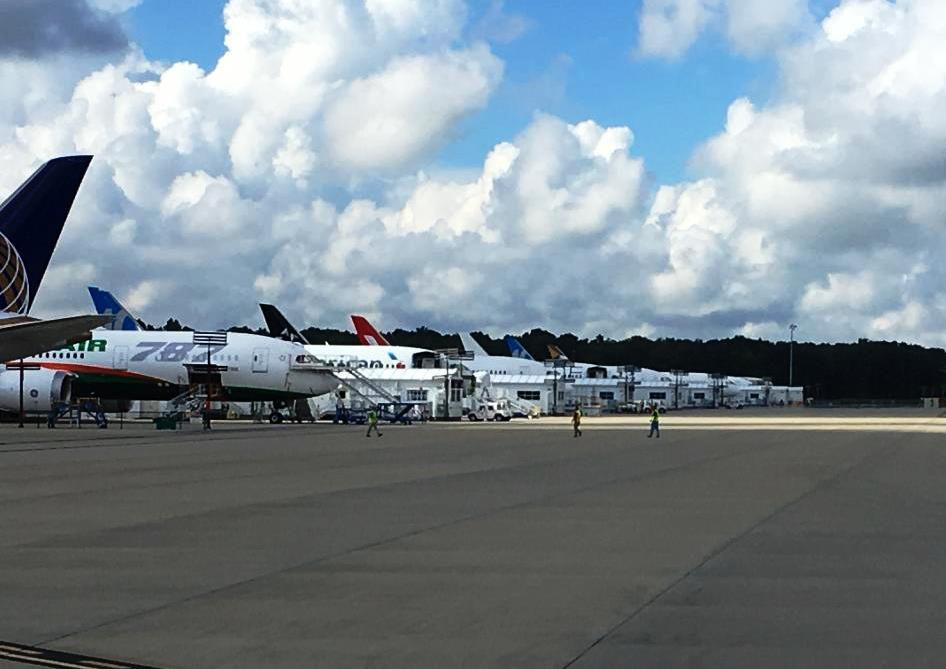 Boeing flight line