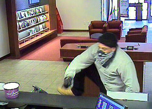 Armed man robs bank