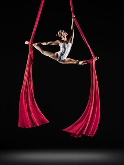 Aerial show set to classical music at the Cirque de la Symphonie
