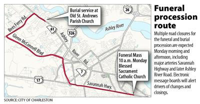 Deputy's funeral procession will close West Ashley roads