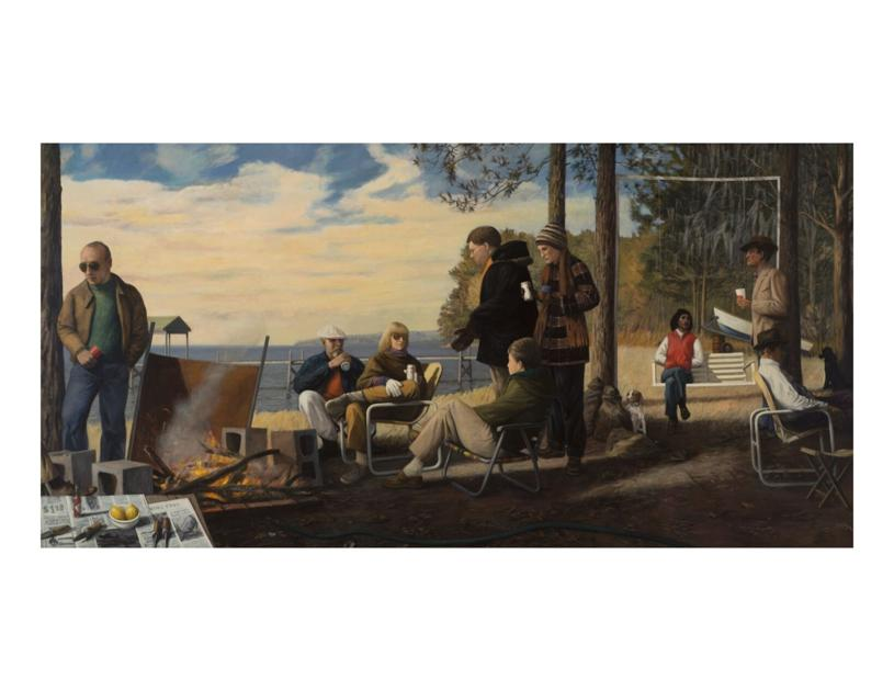 A portrait of a Charleston artist as a man in a canoe