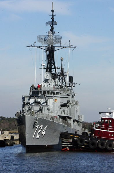 Warship's return delayed