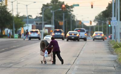 economic struggles shopping cart tires