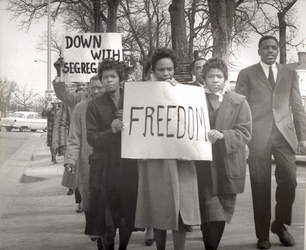 Freedom and Marchers Cecil Williams