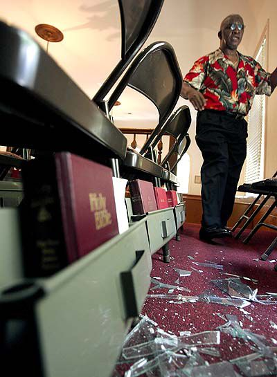 Vandals target historic church