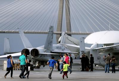 Weather couldn't dampen 'Pay What You Can' event at Patriots Point