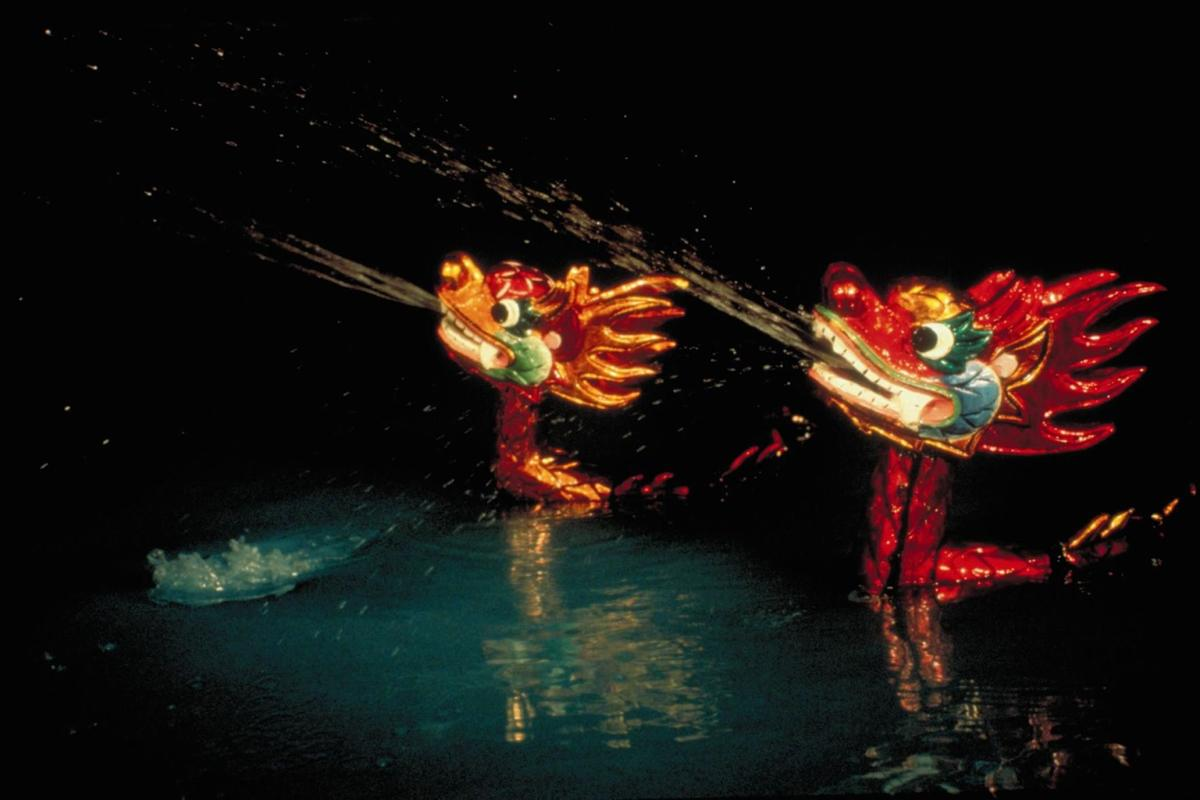 Magical water dance