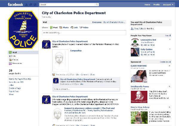 Charleston city police going social