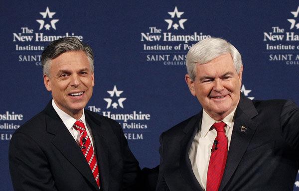 Gingrich, Huntsman square off in friendly debate