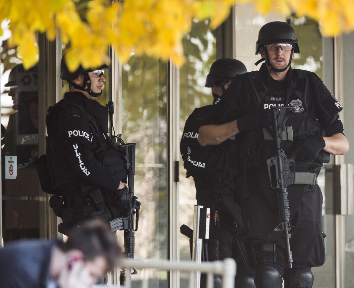Dispatcher: Wisconsin spa shooting suspect found dead