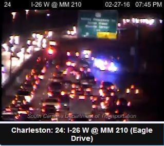 Westbound traffic blocked on I-26