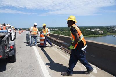 DOT crews on bridge June 1