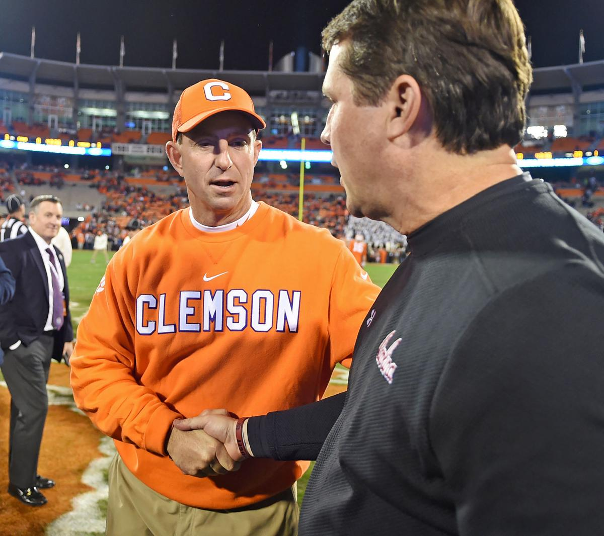 Dabo Swinney, Will Muschamp (copy)