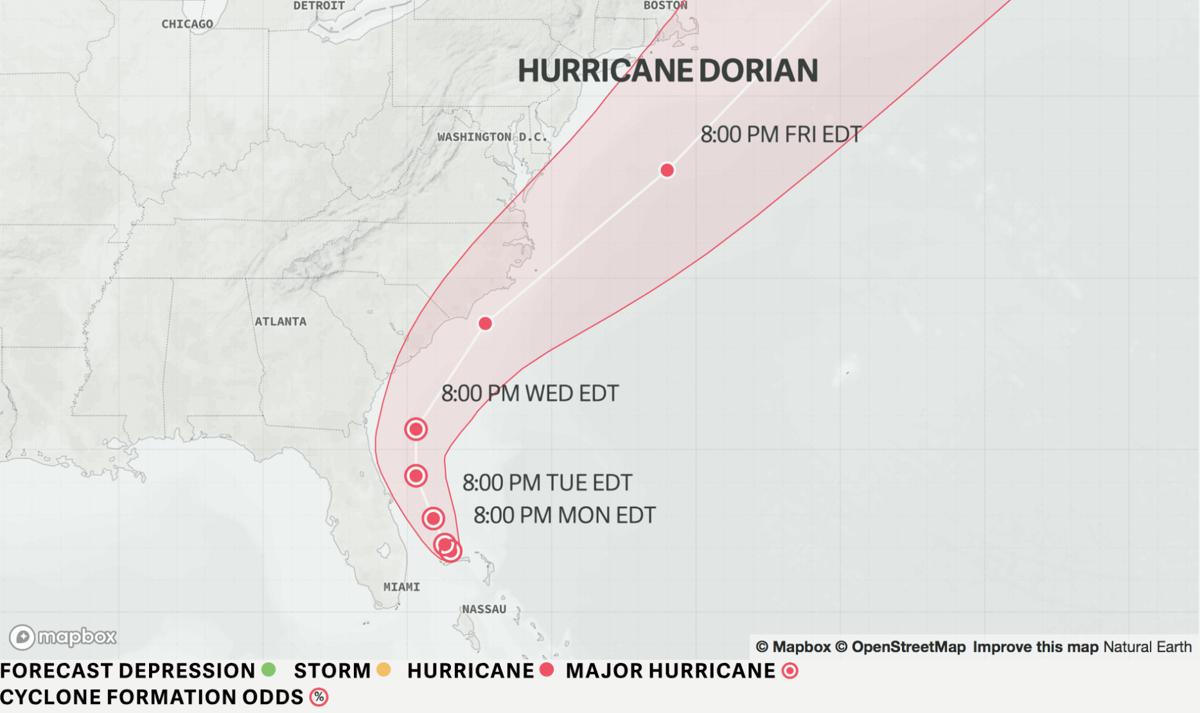 dorian 9/2 11 p.m. update