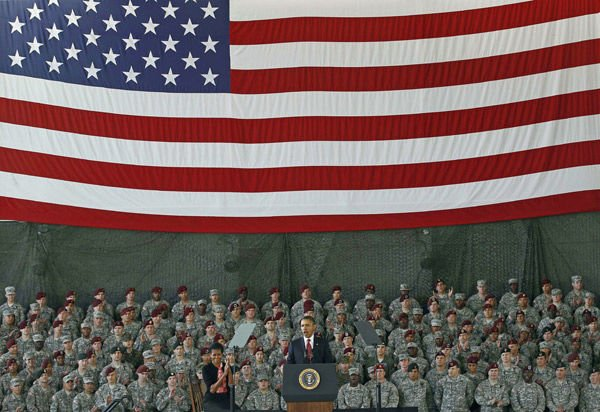 President salutes soldiers