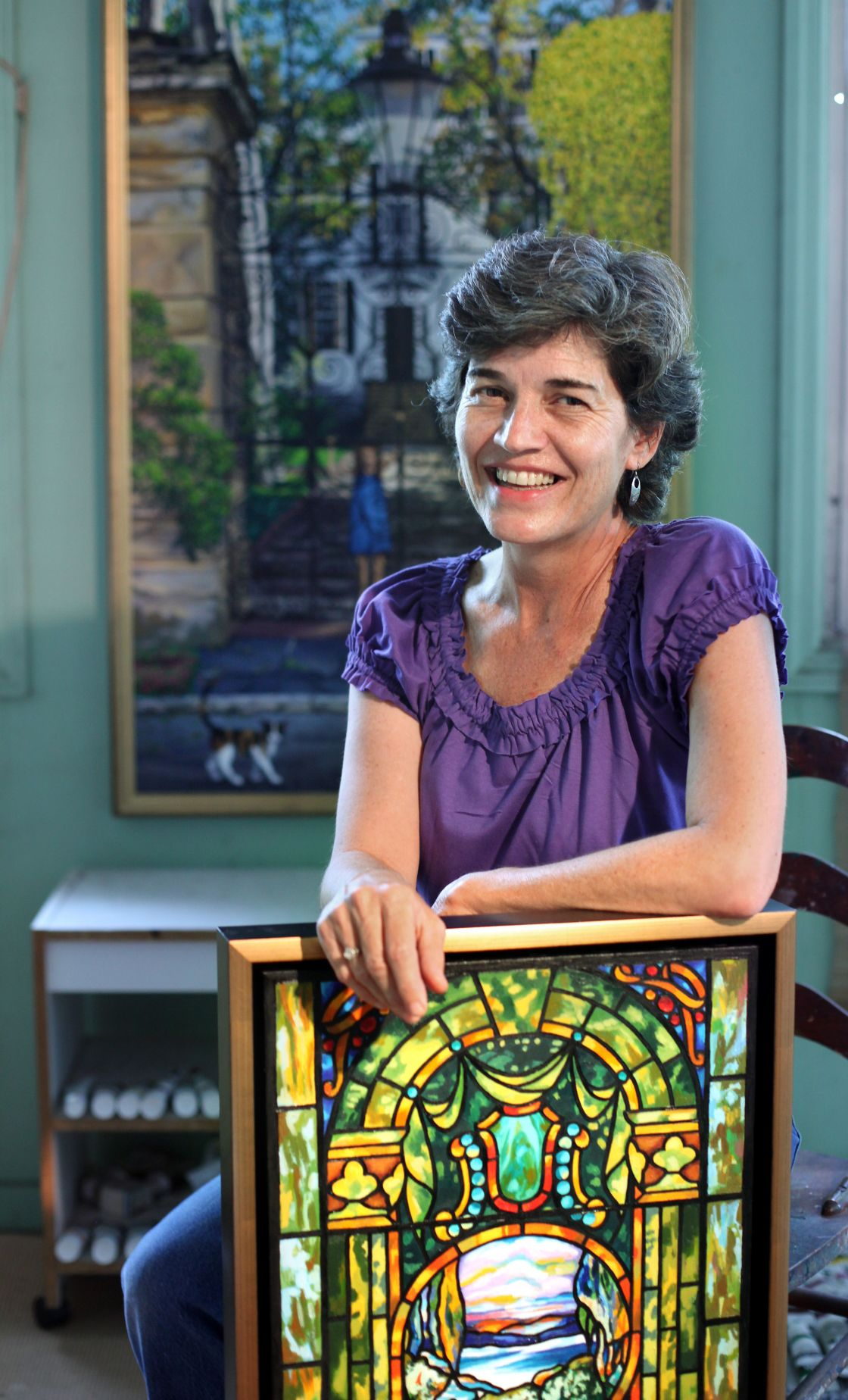 'The artist within' Ezell-Gilson captures 'Sacred Windows' for Piccolo exhibit