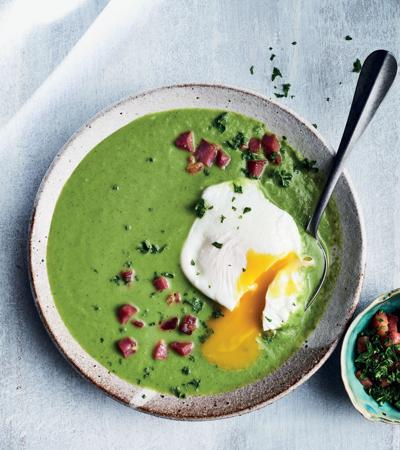 Green eggs and ham soup