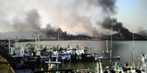 North, South Korea exchange fire; 2 marines killed