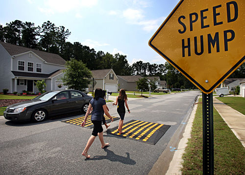 City considers bumpy way to control traffic