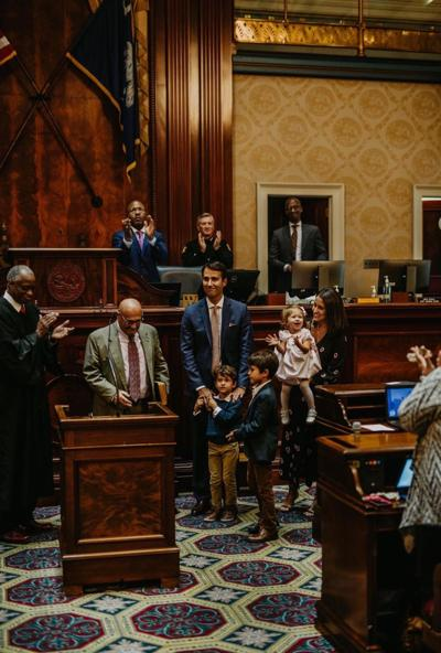 Rep. Seth Rose is sworn in at Statehouse ceremony