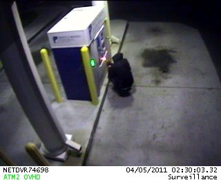 ATMs damaged by would-be bandit
