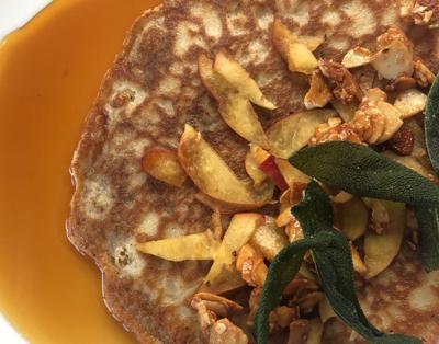 Georgia peach pancake at 8Arm