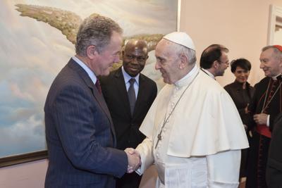 David Beasley and Pope Francis